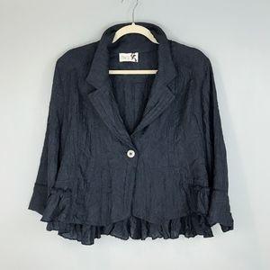 J'IDEE Artsy Crinkle Jacket